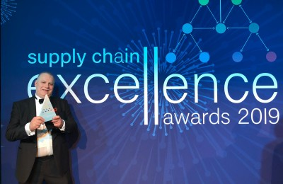 Peter Murphy, Transport Solutions Manager da CHEP, recebe o Prémio nos Supply Chain Excellence Awards